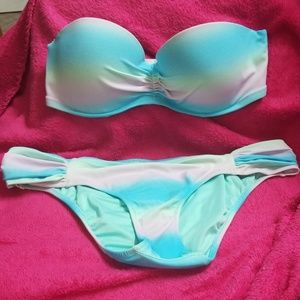Victoria secret bikini ombre rainbow 32D small